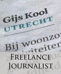 Freelance journalist gijs kool
