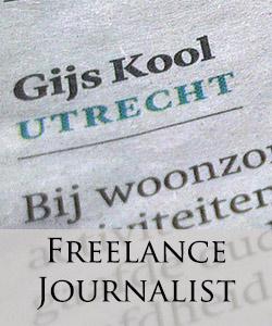 Freelance journalist gijs kool